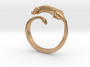 Sleeping Lioness Ring in Natural Bronze