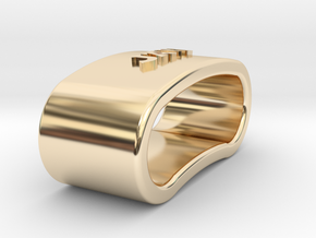 JAVI 3D Napkin Ring with daisy in 14K Yellow Gold