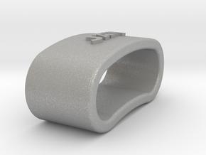 JAVI 3D Napkin Ring with daisy in Aluminum