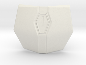 The Mandalorian Upper Chest Armor  in White Natural Versatile Plastic