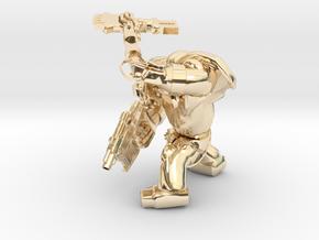 SPACEMARINER1 AXEPISTOL in 14k Gold Plated Brass