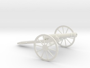 1/48 Scale American Civil War Cannon 1841 6-Pounde in White Natural Versatile Plastic