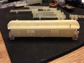 Baggage Car in Smooth Fine Detail Plastic