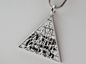 """I am..."" HankCon Pendant in Rhodium Plated Brass"