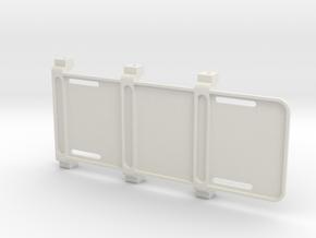 SCX10 I+II Battery Tray in White Natural Versatile Plastic