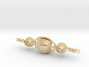 Interlocking necklace in 14K Yellow Gold: Medium