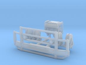 1/100 Bullbar bumper w generator & Wire reels in Smooth Fine Detail Plastic
