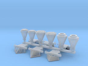 N scale pilots and smokestacks for Atlas 4-4-0 in Smoothest Fine Detail Plastic