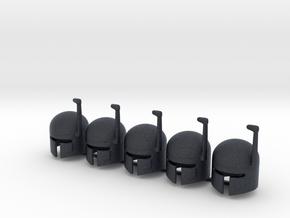 5 x SciFi Type G helmet in Black PA12