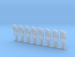 8 dværgsignaler in Smooth Fine Detail Plastic