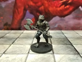 Kitsune Barbarian in Smooth Fine Detail Plastic