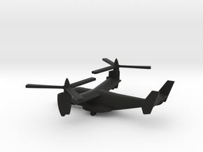 Bell XV-15 in Black Natural Versatile Plastic: 1:200