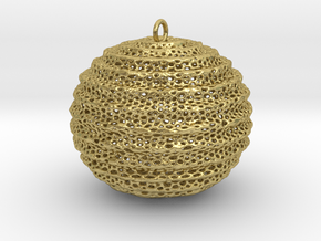 foram sphere in Natural Brass