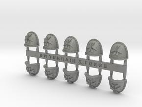 Sword Templar V2 Crusade Style Shoulder Pads in Gray PA12
