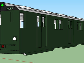 ho scale r10 subway car in White Strong & Flexible