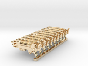 Plasmagun in 14k Gold Plated Brass