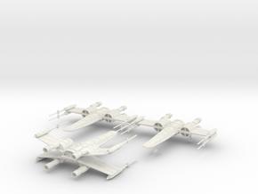 SW X-Wing - V2 in White Natural Versatile Plastic