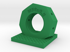 Nut car key holder in Green Processed Versatile Plastic