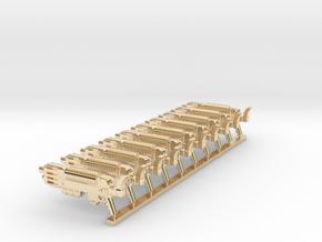 Plasmagun SET4 in 14k Gold Plated Brass