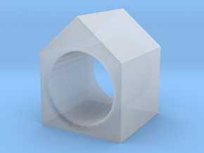 House Ring in Smooth Fine Detail Plastic