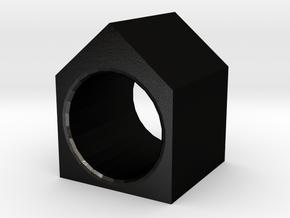 House Ring in Matte Black Steel
