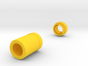 Stubby Silencer for Nerf N-Strike Modulus in Yellow Processed Versatile Plastic