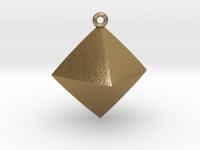 Minimal Rhombus Pendant  in Polished Gold Steel