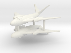(1:285)(x2) Messerschmitt Me P.1101/92 (Mid-wing) in White Natural Versatile Plastic
