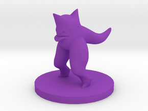 DnD biped creature in Purple Processed Versatile Plastic