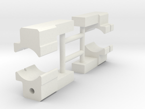 Beam-support-inserts in White Natural Versatile Plastic