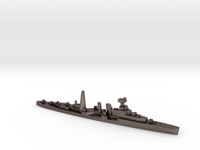 HMS Coventry (masts) 1:2400 WW2 naval cruiser in Polished Bronzed-Silver Steel