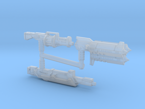 Earth Wars Weapon Set (3mm, 5mm) in Smooth Fine Detail Plastic: Small