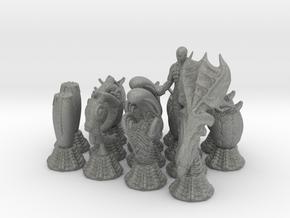 Alien Chessmen in Gray PA12