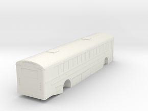 IC RE 300 School Bus 1/53 Scale in White Natural Versatile Plastic