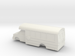 1/53 Scale Thomas Minotour Chevy Express School Bu in White Natural Versatile Plastic