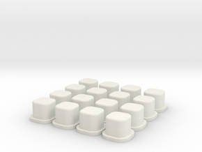 B64 Arm Mount Inserts in White Natural Versatile Plastic
