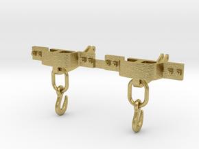 CPL02 LNWR Coupling (FR) SM32 in Natural Brass (Interlocking Parts)