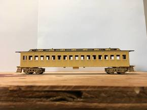 Central Pacific Commissioners Car (Ho Scale) in Smooth Fine Detail Plastic