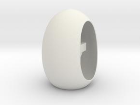 Easter Cross N Halo Inside A Tea Light Egg in White Natural Versatile Plastic