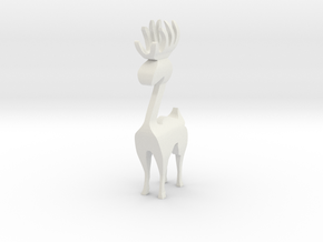 Reindeer figure (scrollsaw/bandsaw) in White Natural Versatile Plastic: Medium