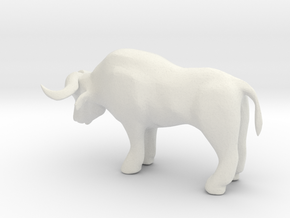 S Scale Ox in White Natural Versatile Plastic