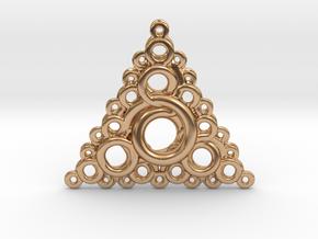 Recursive Knots Order 3 Pendant in Polished Bronze
