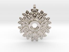 Saturday Flowery Pendant in Platinum