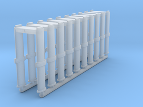 N Scale 10 Metal Detector Walkthrough Gates in Smooth Fine Detail Plastic