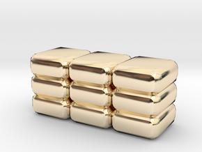 SandBag in 14k Gold Plated Brass