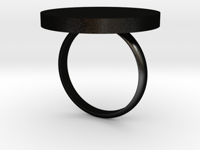 O Ring in Matte Black Steel