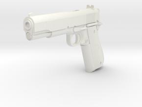 1:3 Miniature Colt Delta Pistol in White Natural Versatile Plastic