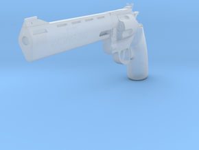 1:3 Miniature Taurus Raging Bull Revolver in Smooth Fine Detail Plastic