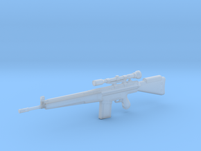 1:6 Miniature Heckler & Koch G3 Rifle in Smooth Fine Detail Plastic