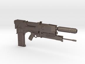 Terminator Plasma Rifle 1.6 Scaled in Polished Bronzed-Silver Steel